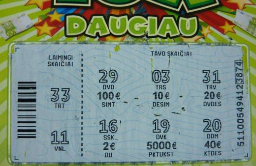 Loterijos 10X Daugiau bilietas