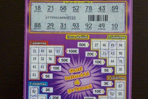 bingo bilietukas