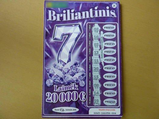 Briliantinis 7 loterijos bilietas