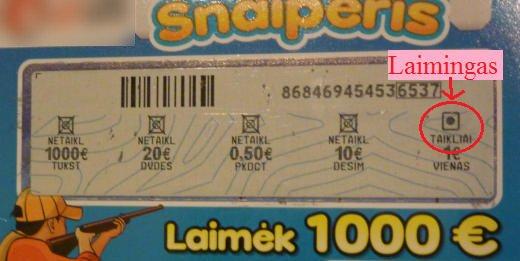 Laimingas bilietas Snaioeris