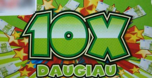 Momentinė loterija 10X Daugiau